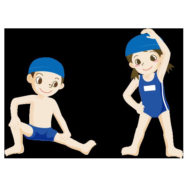 学校安全フリーイラスト集水泳1