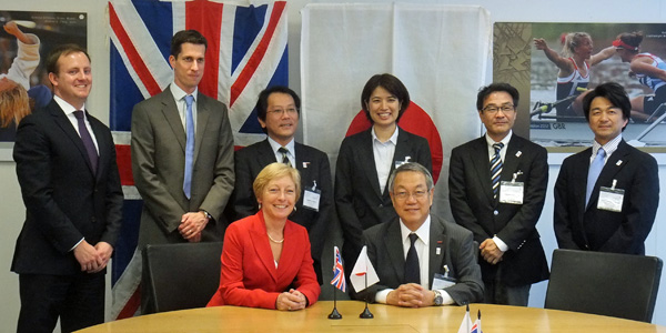 picture describing that UK Sport and Japan Sport Council signed agreement of collaboration