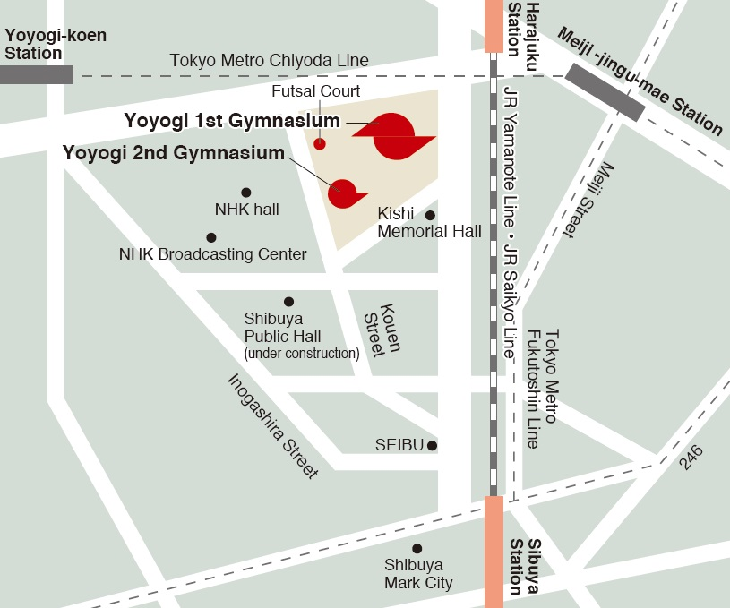 map(Yoyogi National Stadium )
